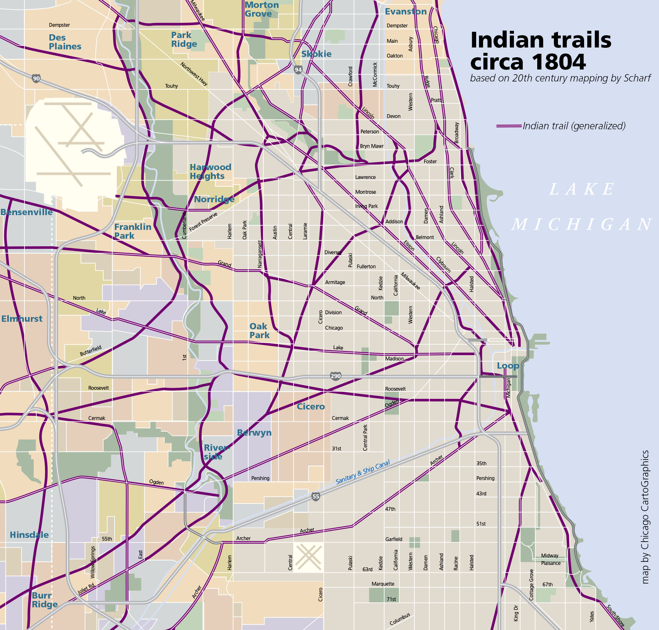 Chicago Rail Map Chicago in Maps